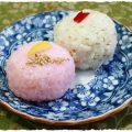 うちの子レシピ7 -紅白手まり寿司-